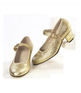 Zapato Purpurina Oro