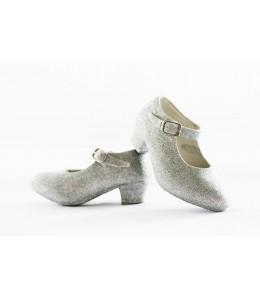 Zapato Purpurina Plata