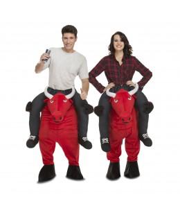 Disfraz de Toro Rojo a Hombros