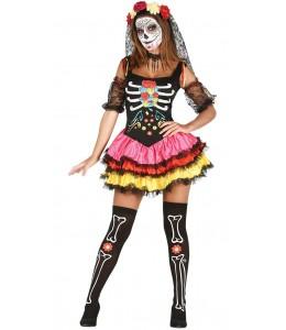 Disfraz de Catrina Colores