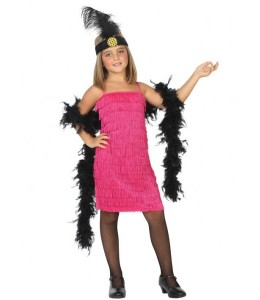 Disfraz de Charleston Rosa Infantil