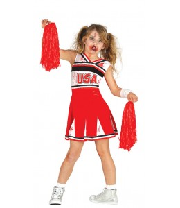 Disfraz de Cheerleader Zombie infantil