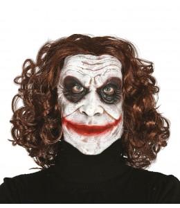 Mascara de Payaso de Comic con Pelo