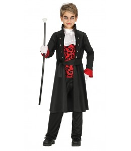 Disfraz de Vampiro Gotico Rojo Infantil