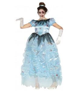 Disfraz de Princesa Zombie Azul