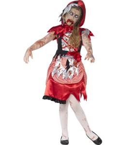 Disfraz de Caperucita Roja Zombie Infantil