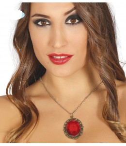 Collar con Piedra Roja