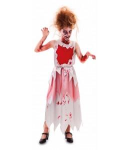Disfraz de Novia Sangrienta Infantil