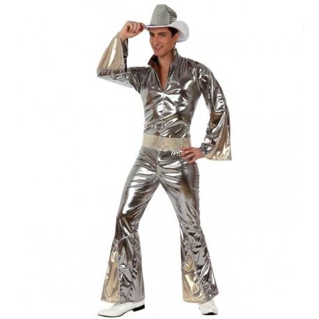 Disfraz de Buzo Disco Plata Chico