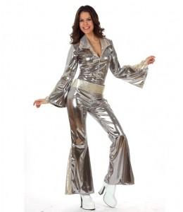 Disfraz de Buzo Disco Plata Chica