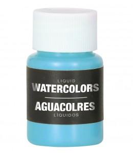 Maquillaje Azul Claro al Agua Liquido