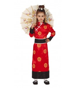 Disfraz de Geisha Roja Infantil
