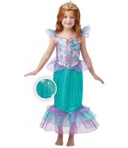 Disfraz de Ariel Gliter/Sparkle Deluxe Infantil