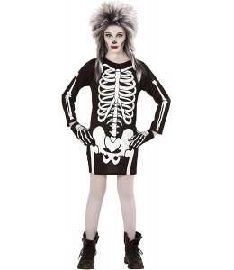 Disfraz de Esqueleto Vestido inf.