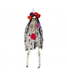 Esqueleto Colgante  con Mantilla 40cm