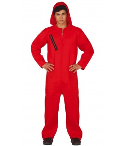 Disfraz de Convicto con Capucha Rojo