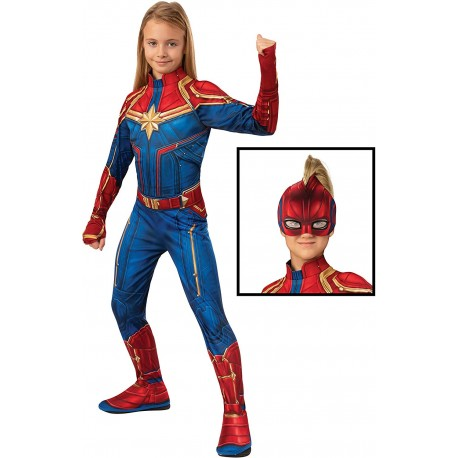 Disfraz de capitana Marvel Classic Infantil