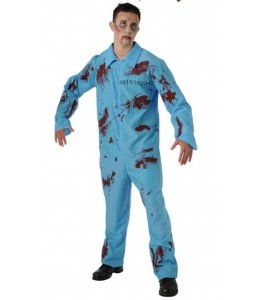 Disfraz de Convicto Azul