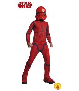 Disfraz de Stormtrooper Rojo EP9 Infantil