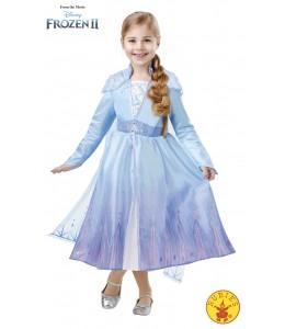 Disfraz de Elsa Travel Frozen2 Deluxe Infantil
