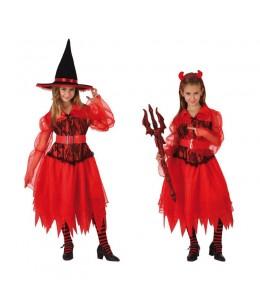 Disfraz de Bruja Demonio Infantil
