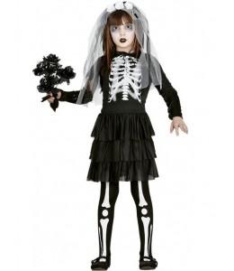 Disfraz de Novia esqueleto Infantil