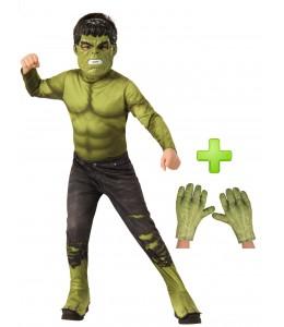 Disfraz de Hulk con manos