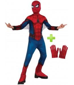 Disfraz de Spiderman con guantes para niño