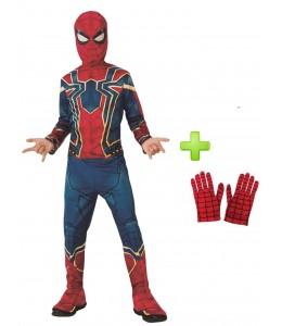 Disfraz de Iron Spiderman con guantes infantil
