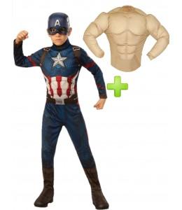 Disfraz de Capitan America Musculoso infantil