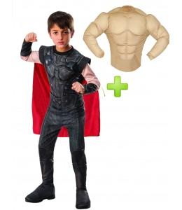 Disfraz de Thor Musculoso Infantil