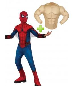 Disfraz de Spiderman con musculos