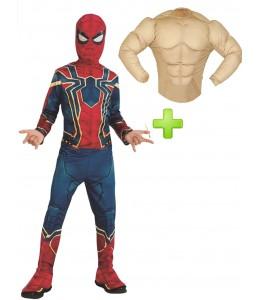 Disfraz de Iron Spiderman Musculoso Infantil