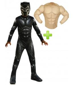 Disfraz de Black panther musculoso