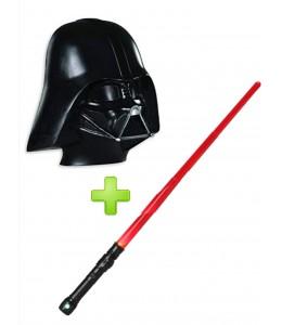 Mascara Darth Vader y sable luz