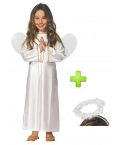 Disfraz de angel infantil con aureola
