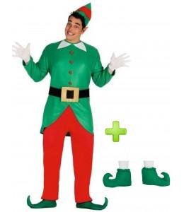 Disfraz de Elfo Verde con Babuchas