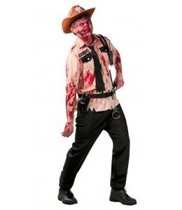 Disfraz de Zombie Policia Americano