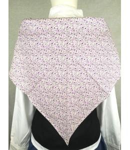 Pañuelo Casera Flores Mini lila fondo claro