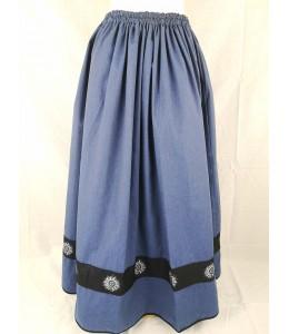 Falda Casera Azul Bies Negro Eguzkilores