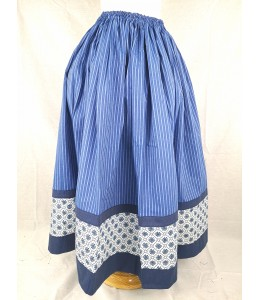 Falda Casera Rallas Azul Bies Eguzkilores