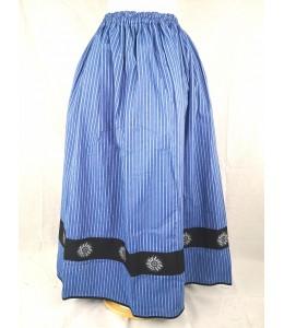 Falda Casera Rayas Azul Bies Negro Eguzkilore