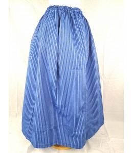 Falda Casera Rayas Azul