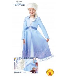 Disfraz de Elsa con Peluca Frozen2 Caja Inf