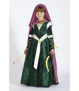 Disfraz de Princesa Verde Merida Infantil