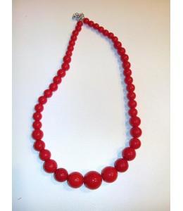 Collar Bolas Rojo Pequeño