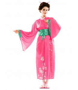Disfraz de Geisha Rosa