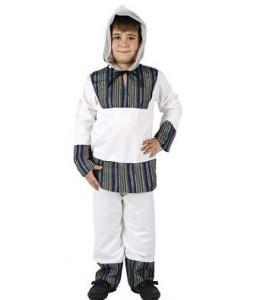 Disfraz de Esquimal Blanco y Gris Infantil