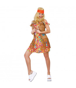Disfraz de Hippie Flower Chaleco Chica