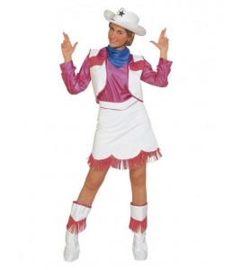 Disfraz de Vaquera Rosa